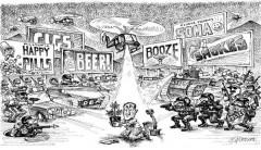 War On drugs cartoon